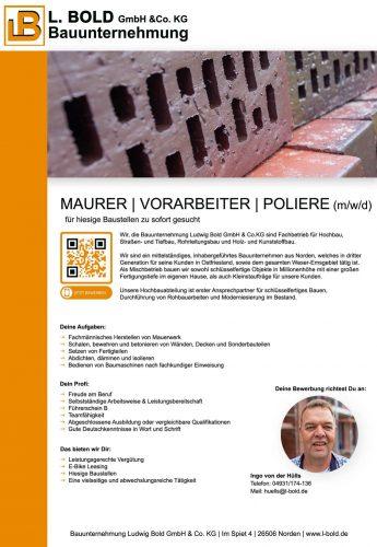 Anzeige Maurer